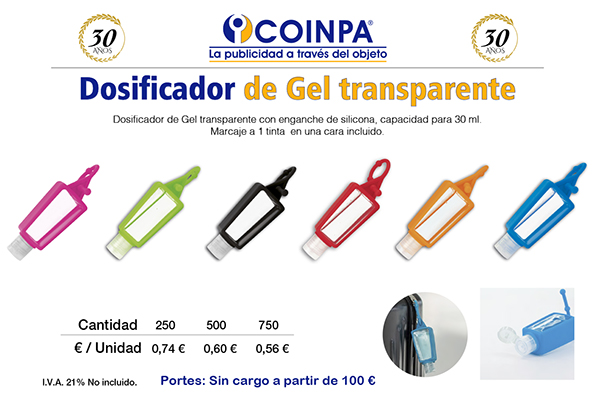 COINPA - Dosificador de gel 30ml