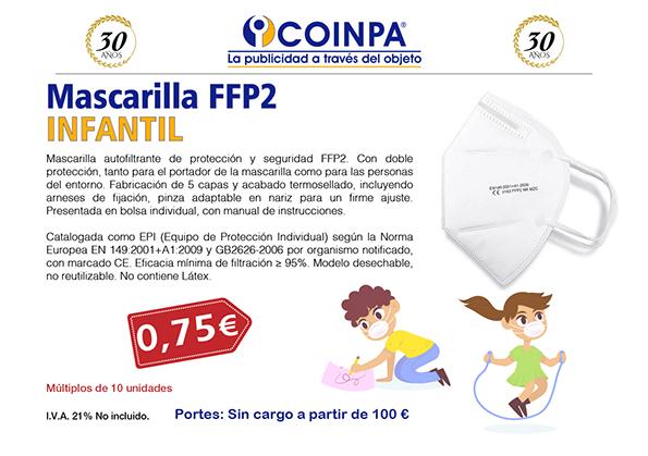 COINPA - Mascarillas de Seguridad FFP2 INFANTIL