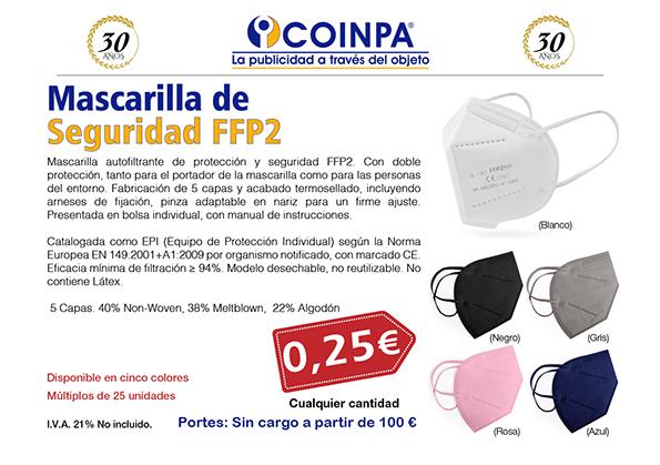 COINPA - Mascarillas de Seguridad FFP2