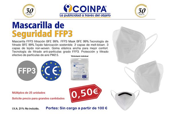 COINPA - Mascarillas de Seguridad FFP3