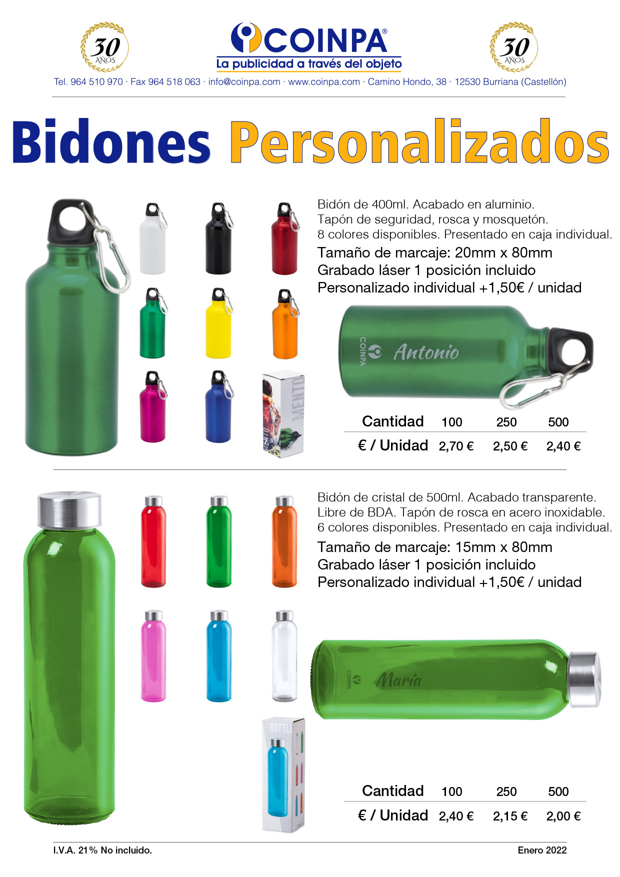COINPA - Bidones personalizados