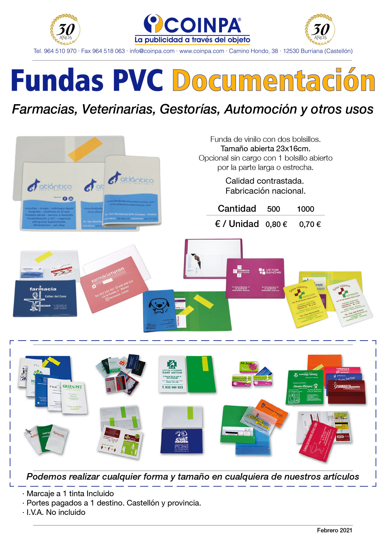 COINPA - Fundas PVC Documentación