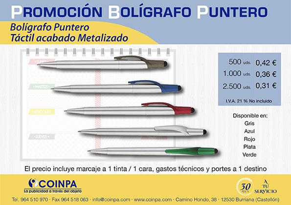 Promoción Bolígrafo Puntero acabado Metalizado