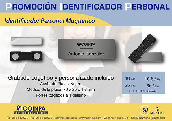 Promoción Identificador Personal Magnético